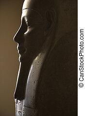 Egyptian sarcophagus. - Profile of Egyptian sarcophagus in ...