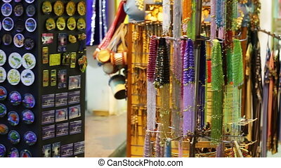 Egyptian souvenirs near the shop - various souvenirs near...