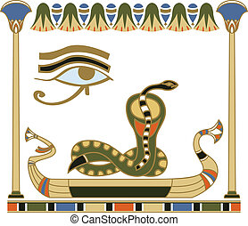 Egyptian sun boat composition