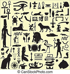 Egyptian Symbols and Signs SET 1 - Ancient Egyptian symbols...