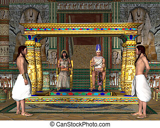 Egyptian Throne Room - The Egyptian Pharaoh and his Queen...
