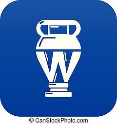 Egyptian vase icon blue vector