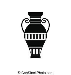 Egyptian vase icon, simple style - Egyptian vase icon in ...