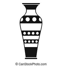 Egyptian vase icon, simple style