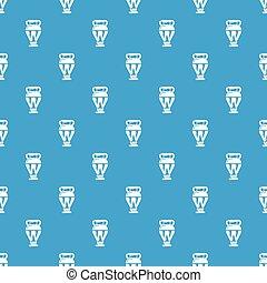 Egyptian vase pattern vector seamless blue