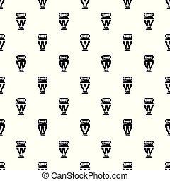Egyptian vase pattern vector seamless