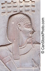 Egyptian wall carving of man