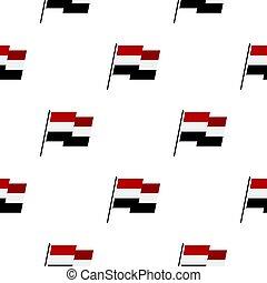 Egyptian wavy flag pattern seamless