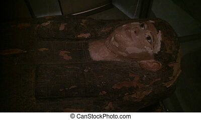 Egyptian woman Mummy. Mummy is a body that is preserved...