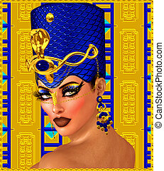 Egyptian Woman Pharaoh Fantasy Art.
