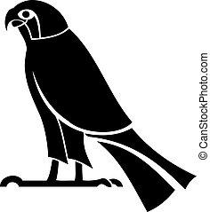 illustration of the Egyptian God Horus Silhouette