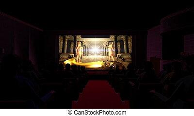 egyption, théâtre, film