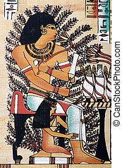 egyptisch, concept, papyrus, geschiedenis