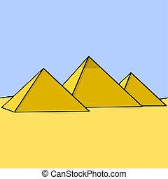 egyptisch, piramides