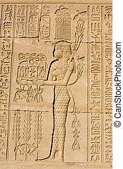 egyptisch, priestess, oud, hapi