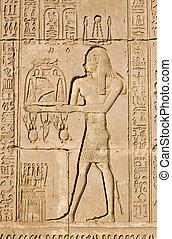 egyptisch, ra, priester, oud