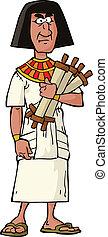 egyptisk, ämbetsman, forntida