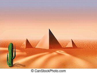 egyptisk, öken