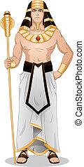 egyptisk, påsk, stående, farao