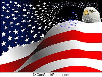 egyszínű, szabadság, 4, nap, július, %u2013