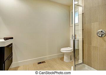 egyszerű, belső, fürdőszoba