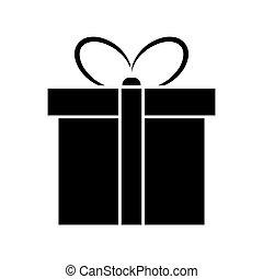 egyszerű, elszigetelt, tervezés, háttér, white christmas, ajándék, ikon