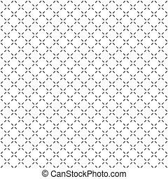 egyszerű, motívum, geometriai, seamless, black-white