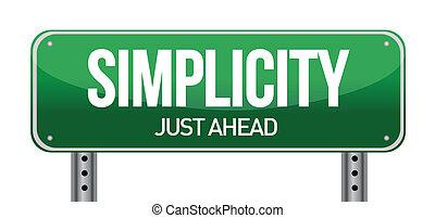 egyszerűség, út cégtábla