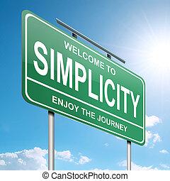 egyszerűség, concept.