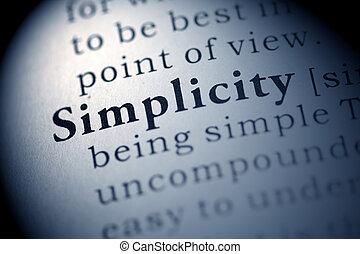 egyszerűség