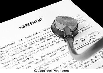 egzamin, porozumienie, handlowy