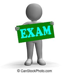 egzaminy, egzamin, środki, litera, znak, questionnaires