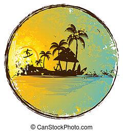 egzotikus, sziget
