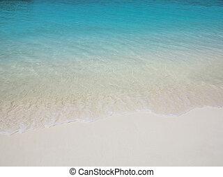 egzotyczny, plaża, malediwy, piasek, rozmieszczenie, czysty