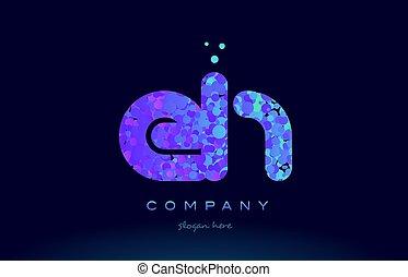 eh e h bubble circle dots pink blue alphabet letter logo...