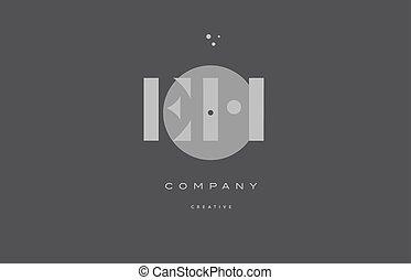 eh e h grey modern alphabet company letter logo icon - eh e...