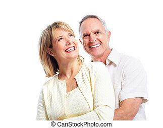 ehepaar., senioren, glücklich