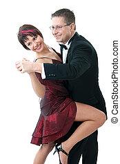 ehepaar, tanzt