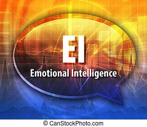 EI acronym word speech bubble illustration - word speech...