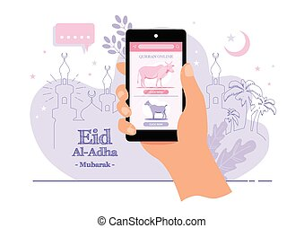 Eid al adha - An illustration of Eid Al Adha sacrifice ...