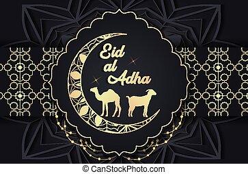 Eid al Adha background. - Luxury Eid al Adha gold ornaments ...
