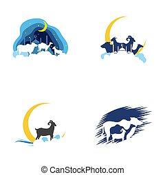 Eid Al Adha Mubarak icon vector illustration design template