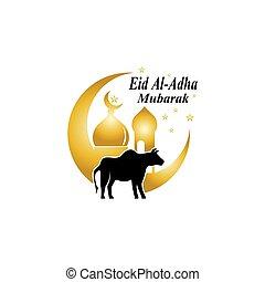 Eid Al-Adha mubarak logo vector