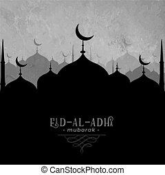 Eid Al Adha mubarak mosque background