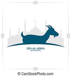 eid al adha traditional festival background design