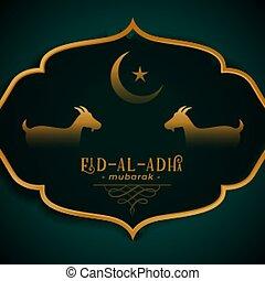 eid al adha traditional festival card design