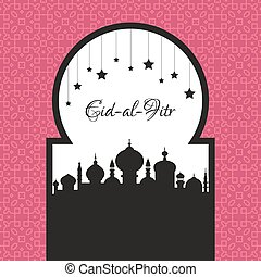 Eid Al Fitr Template - Beautiful mosque design with place ...