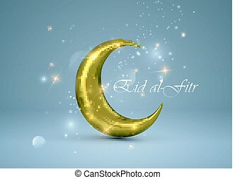 Eid al-Fitr. Vector islamic religious illustration of Eid al...