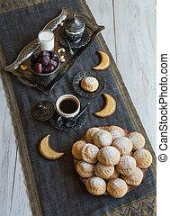 Ramadan Dates Sweets - Arabian cuisine background