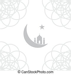 Islam icon with religion and culture symbol  Islam religion